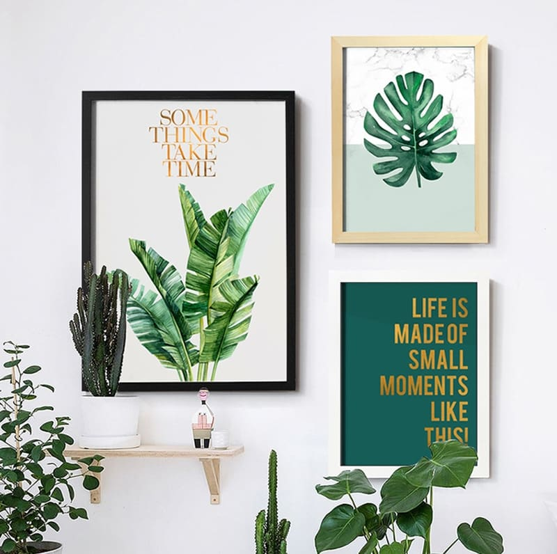 Wood Frames Canvas Painting Picture Display