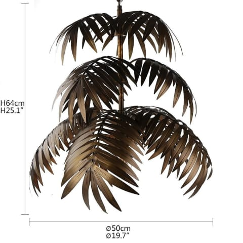 Metal Palm Leaf Pendant Lamps