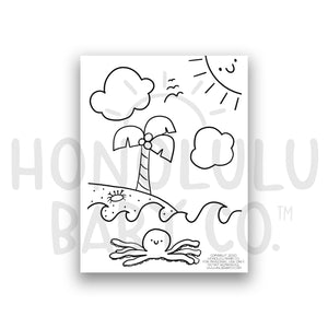 Beach Coloring Sheet