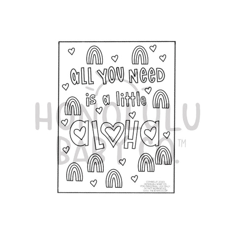 FREE! All You Need...Coloring Sheet