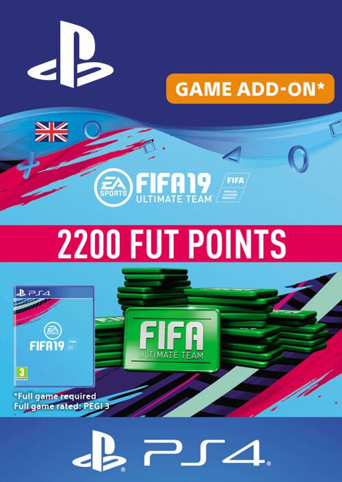 FIFA 19 Ultimate Team 2200 FUT Points (PS4) (Code) - Game X Change