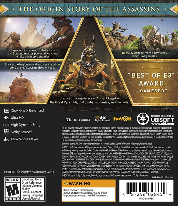 Assassin's Creed Origins (XBOX One) - Game X Change