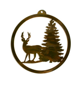 Deer in Woods Metal Wall Art, Sportsman, Hunting, Outdoors, Cabin Decor