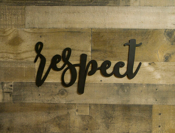 Respect Metal Sign, Farmhouse Decor, Quotes, Sayings, Modern, Living Room Wall, Country Decor, Housewarming Gift, Inspirational