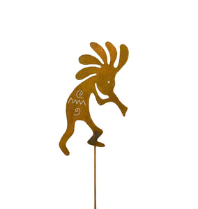 Dancing Kokopelli Southwestern Rust Metal Garden Decor Yard Art Stake Native American Gift for Gardeners
