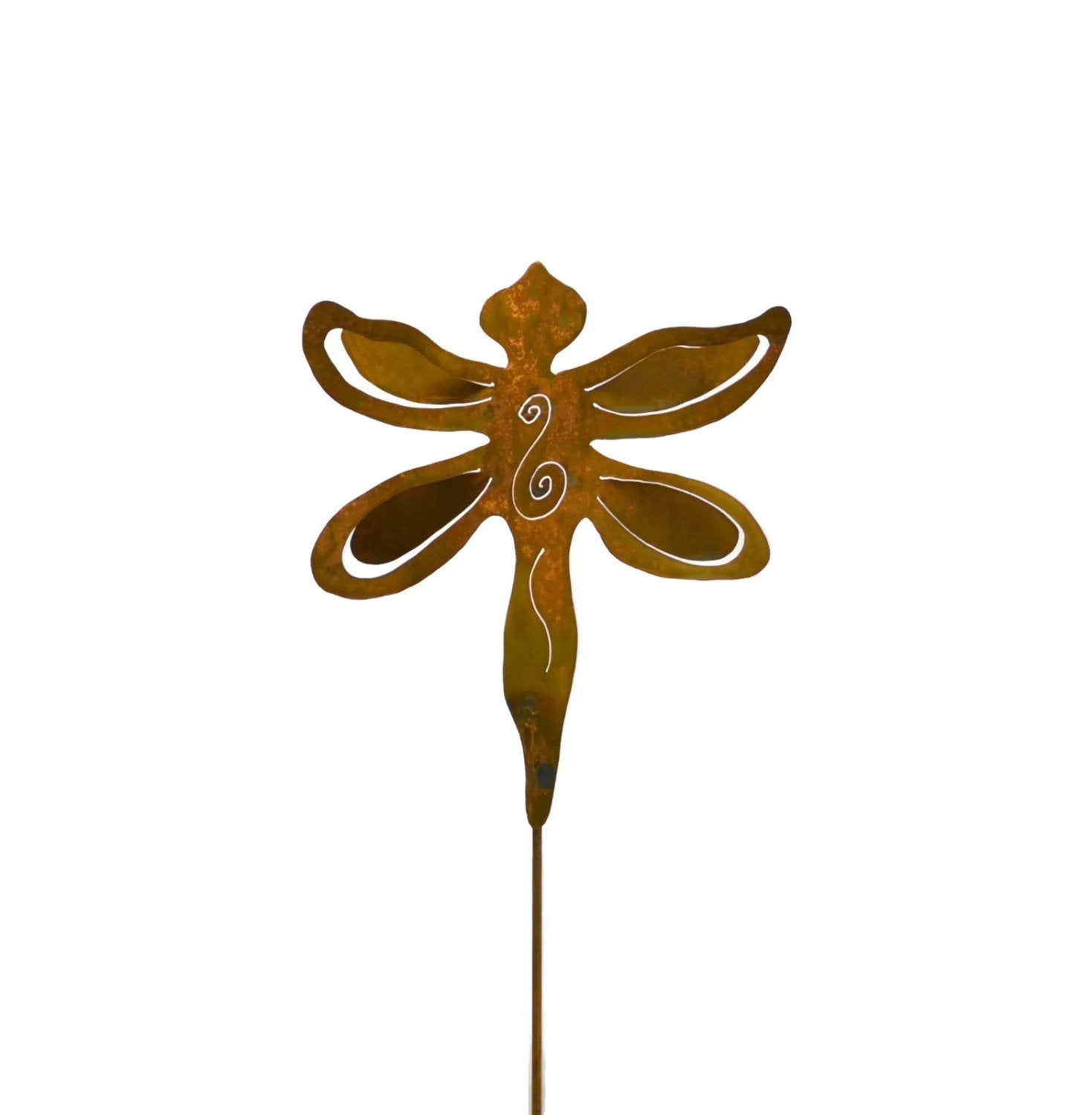 Dragonfly Garden Metal Art Rust Decoration Yard Stake Gift for Gardeners