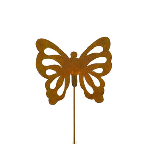 Butterfly Rust Metal Garden Decor Yard Stake Art Gift for Gardeners