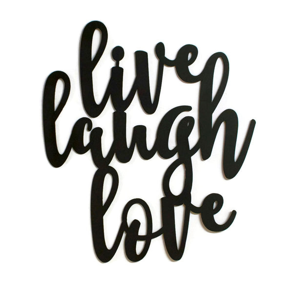 Live, Laugh, Love Metal Sign, Farmhouse Decor, Sayings, Quotes, Metal Word Wall Art, Inspirational Gift