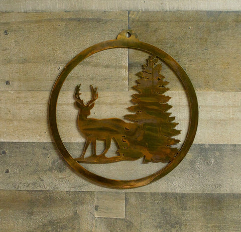 Deer in Woods Metal Wall Art, Sportsman, Hunting, Outdoors, Forest, Cabin Decor