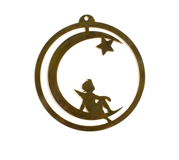 Fairy, Moon and Star Rustic Metal Wall Art, Home Decor, Wall Hanging, Gift Idea
