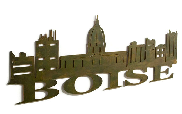 Boise Skyline Metal Wall Decor, Idaho, Metal Wall Art, Metal Living Room, Lodge, Kitchen Decor, Housewarming Gift