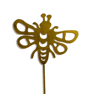 Bumblebee Rust Metal Garden Decor Yard Art Stake Gift for Gardeners