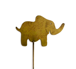 Elephant Rust Metal Garden Decor Yard Art Stake Gift for Gardeners
