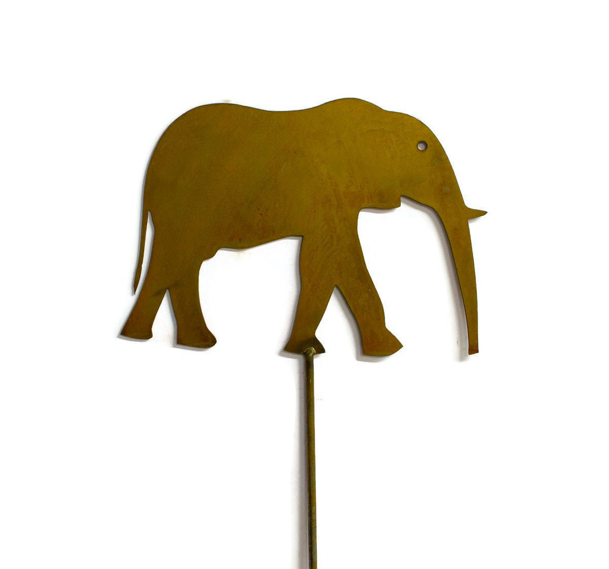 Elephant Metal Yard and Garden Stake, Safari, Animal Decor, Rustic