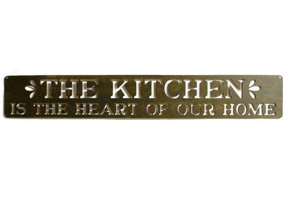 The Kitchen is The Heart of Our Home, Metal Sign, Kitchen Decor, Cooking, Farmhouse, Cook Gift, Kitchen Wall Art