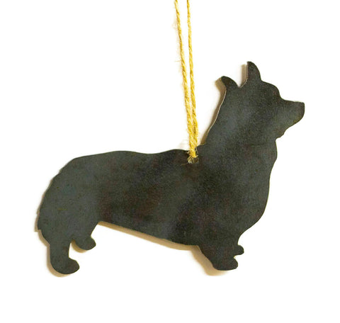 Corgi Dog Metal Christmas Ornament Tree Stocking Stuffer Party Favor Holiday Decoration Raw Steel Gift Recycled Nature Home Decor