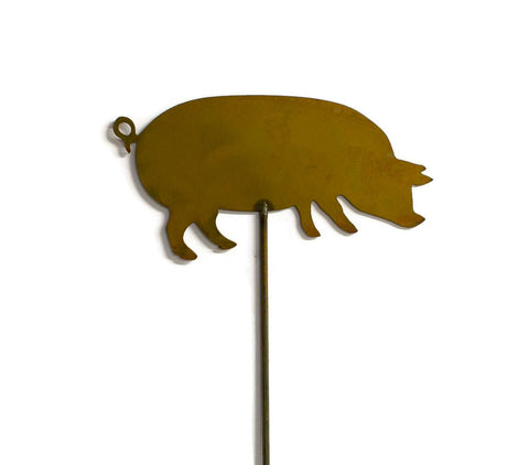 Pig Yard and Garden Stake, Outdoor Decoration, Yard Art