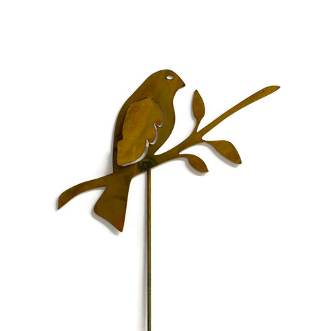 Bird on Branch Metal Yard Stake, Garden Art, Yard, Outdoor Decor