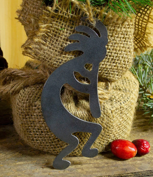 Kokopelli Southwest Metal Christmas Ornament Tree Stocking Stuffer Party Favor Holiday Decoration Raw Steel Gift Recycled Nature Home Decor