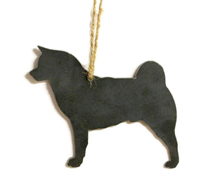 Akita Dog Metal Christmas Ornament Tree Stocking Stuffer Party Favor Holiday Decoration Raw Steel Gift Recycled Nature Home Decor