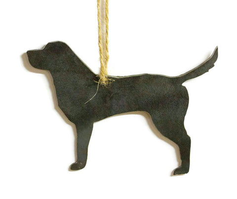 Labrador Retriever Dog Metal Christmas Ornament Stocking Stuffer Party Favor Holiday Decoration Raw Steel Gift Recycled Nature Home Decor