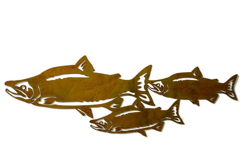 Sockeye Salmon Fish Metal Wall Art, Fisherman, Fishing Decor, Wildlife, Rivers, Outdoorsman Gift