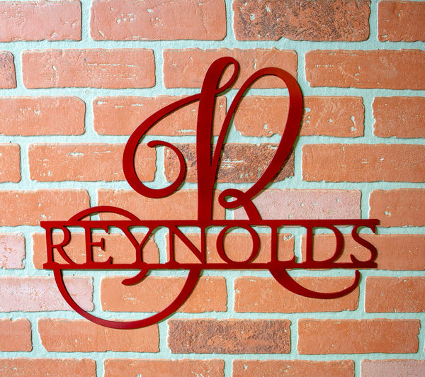 Decorative Metal Split Monogram, Family Name Sign, Personalized Metal, Housewarming Gift