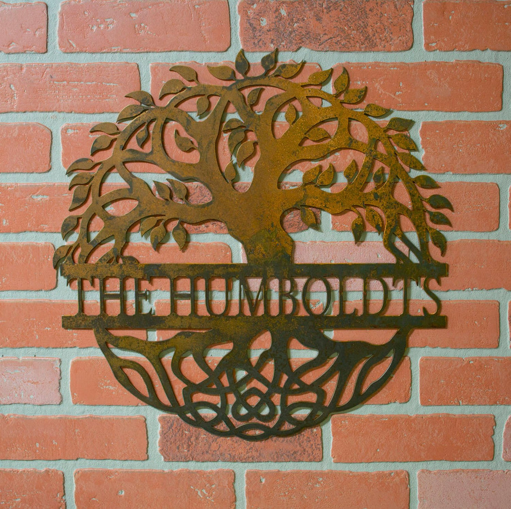 Tree Of Life Family Tree Metal Personalized Last Name Family Sign R Oregardenworks