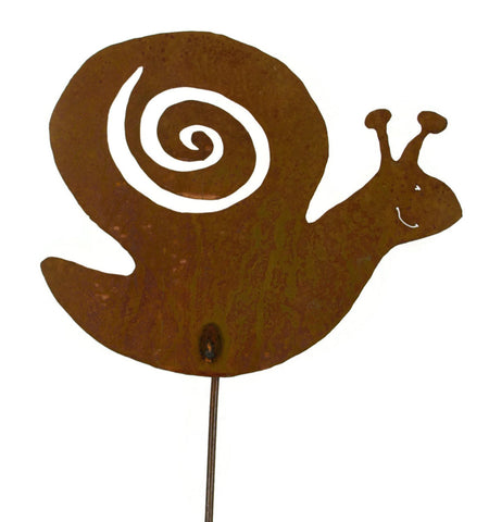 Snail Rust Metal Garden Decor Yard Art Stake Gift for Gardeners
