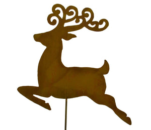 Reindeer Christmas Rust Garden Decoration Holiday Seasonal Yard Art