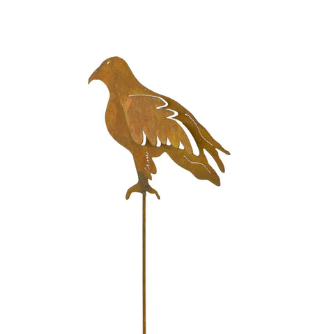 Eagle Rust Metal Garden Decor Bird Yard Stake Gift for Gardeners