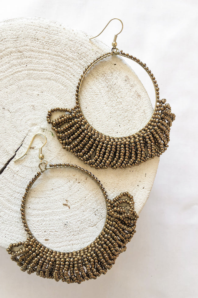 Gold Seed Earrings