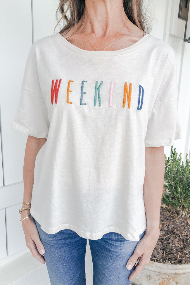 Weekend Embroidered T