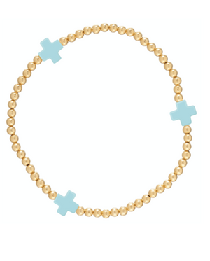 Signature Cross Pattern Bracelet