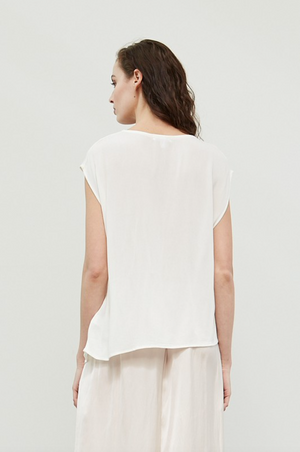 Asymmetrical Shirred Blouse
