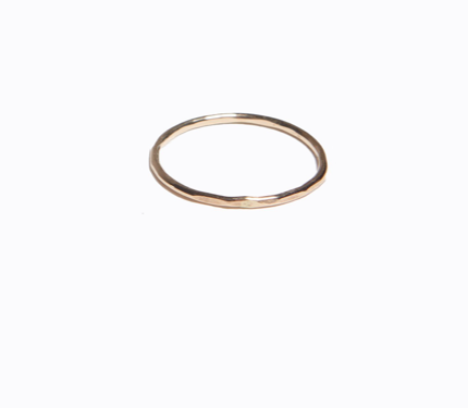 Hammered Thin Ring