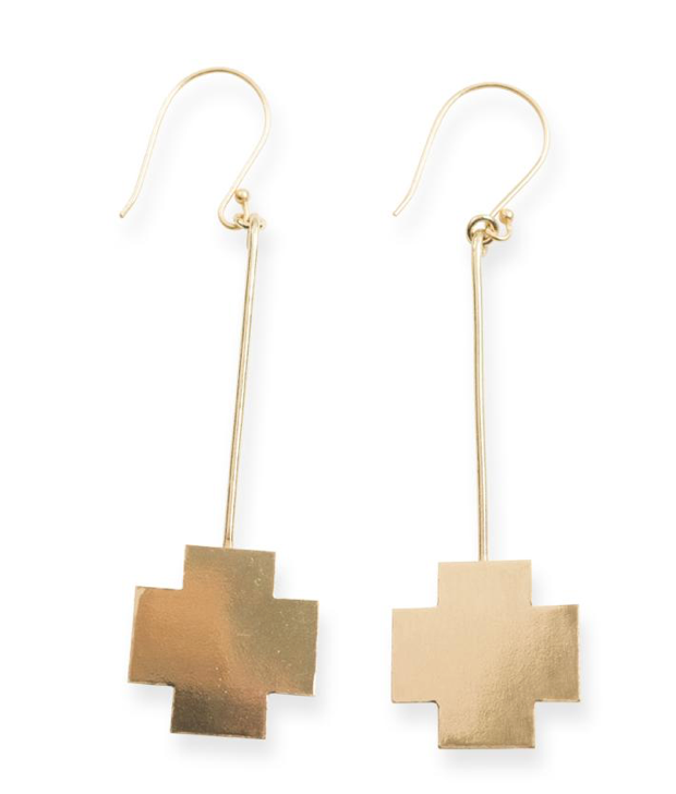 Stick Cross Earrings