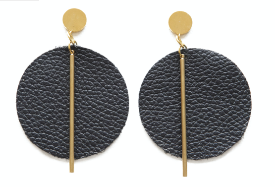 Leather Circle Earring