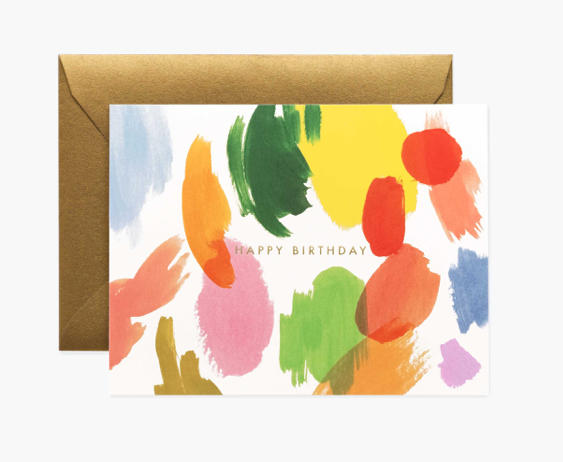 Palette Birthday Card