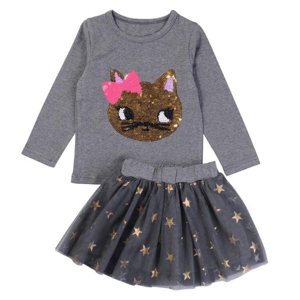 Sequin Kitten Tutu Set