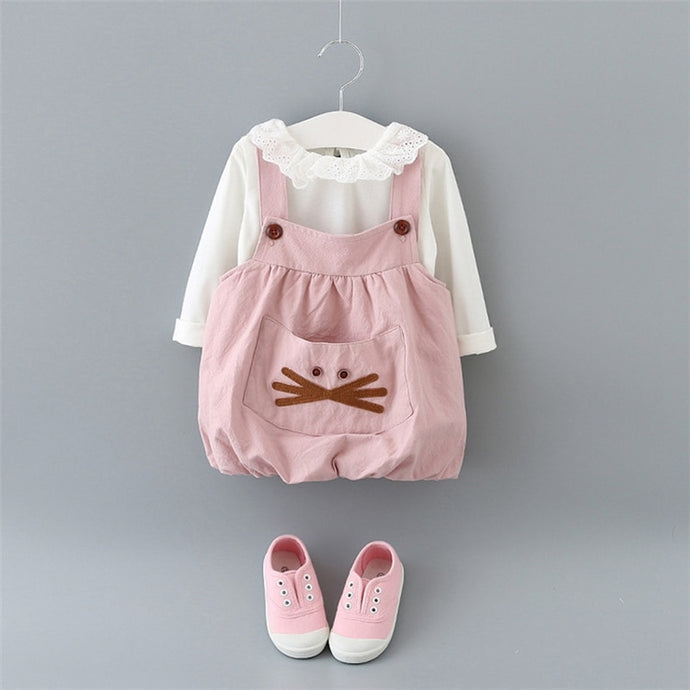 Kitten Jumper/Blouse Set