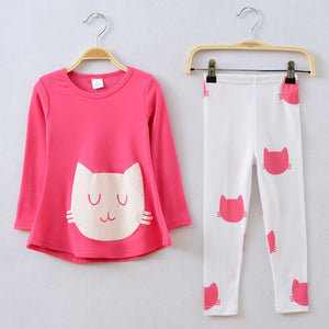 Kitten Head Leggings Set
