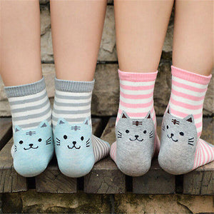 Kitten Patchwork Socks