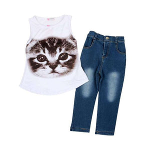 Kitten Jean Pants Set