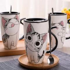 Cat Print Large Cup Set