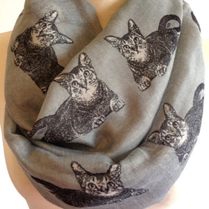 Assorted Cat Infinity Scarf - Meou & Moi