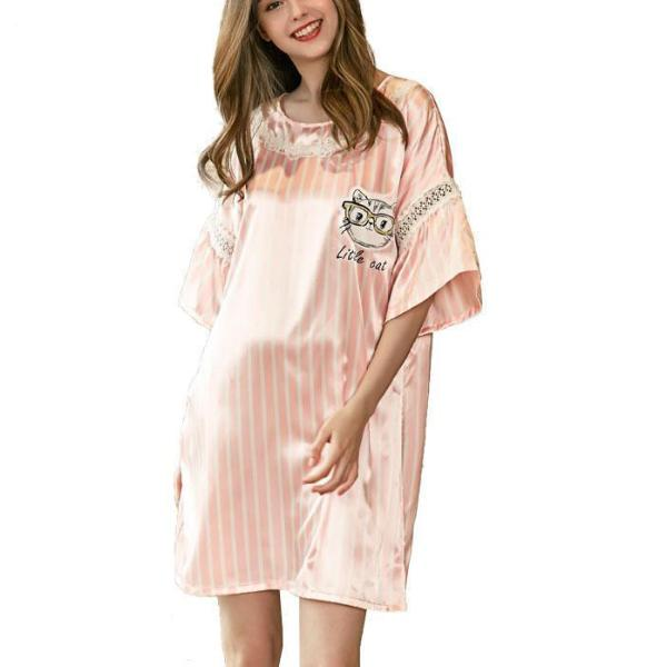 Silky Cat Nightgown
