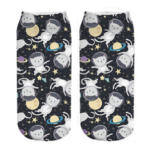 Space Kitten Socks