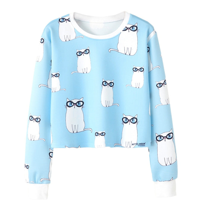 Smarty Cat Crop Sweater