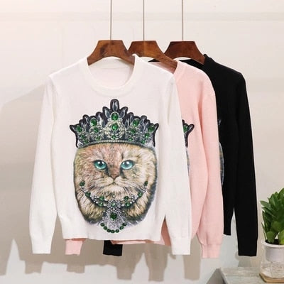 Seriously Royal Cat Sweater